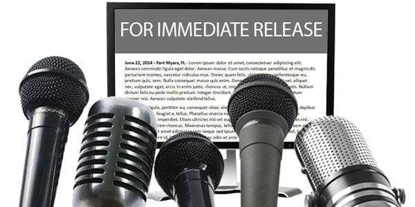 Press releases for businesses